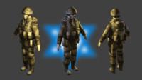 3d model army israe