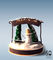 snowglobe snow man