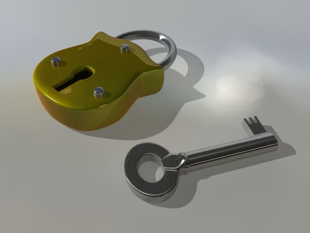 obj padlock keyhole