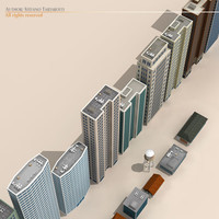 3d model polygons buildings