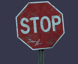 maya stop sign