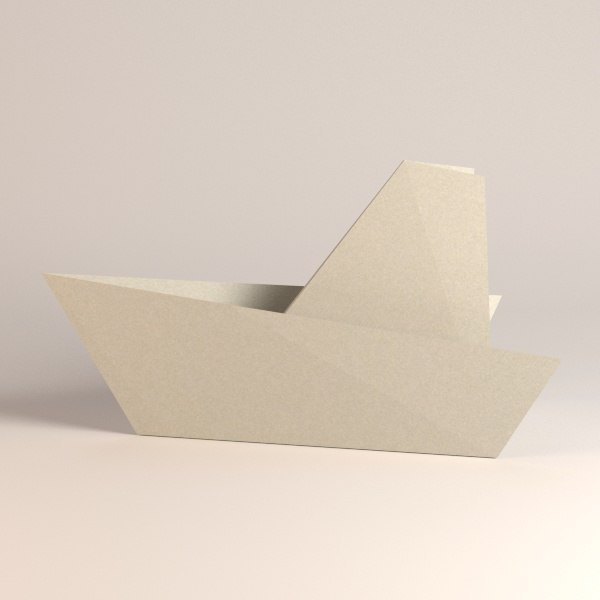 3ds paper boat