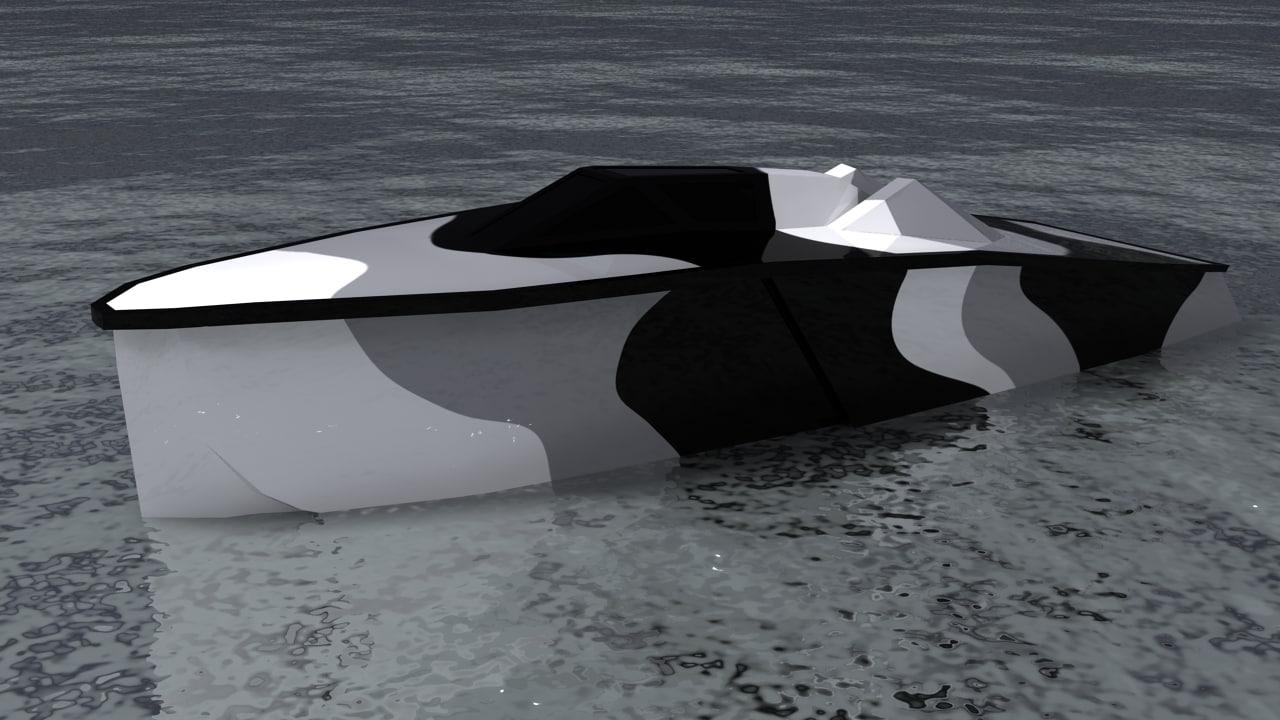 military nano boat piranha 3d model