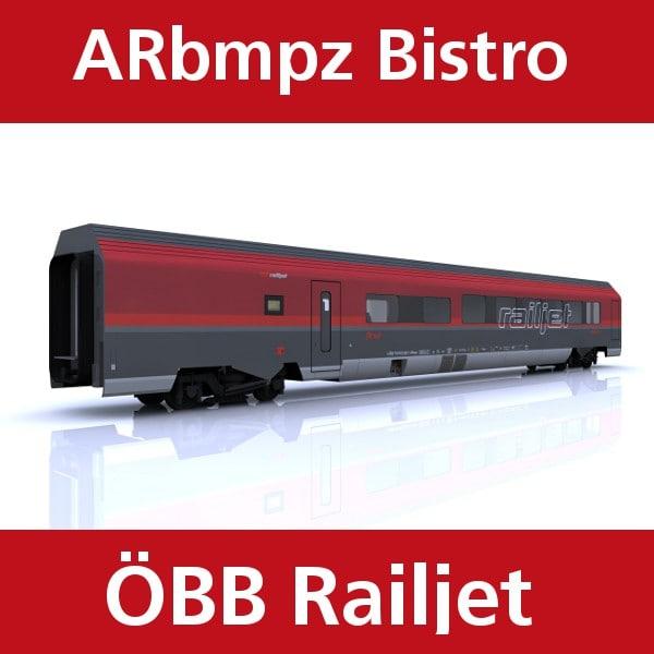 bistro train railjet 3ds