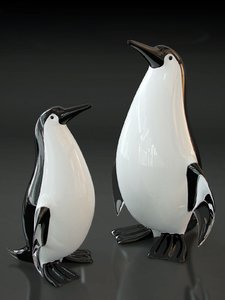 3d penguin murano glass model