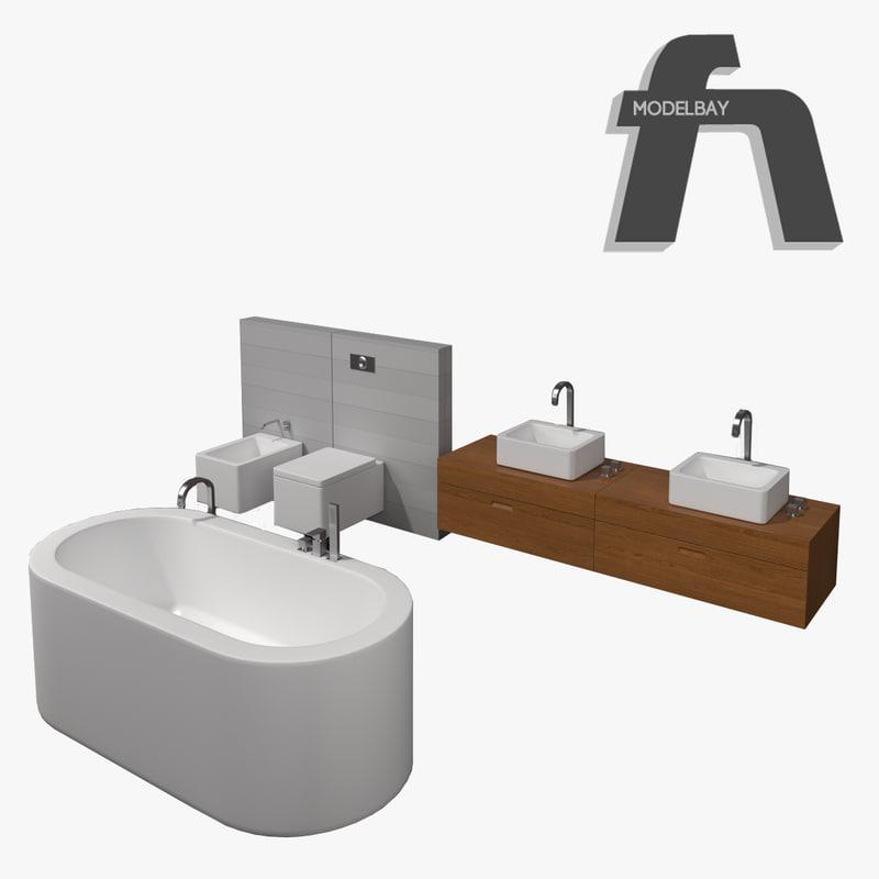 bathroom chiperfield 3d max