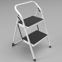 step stool folded 3d model