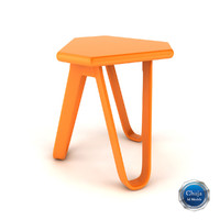 3d model of chair stool
