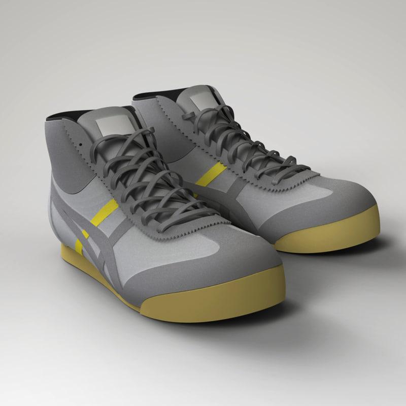 onitsuka shoes 3d model