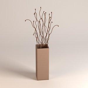vase decoration 3d obj