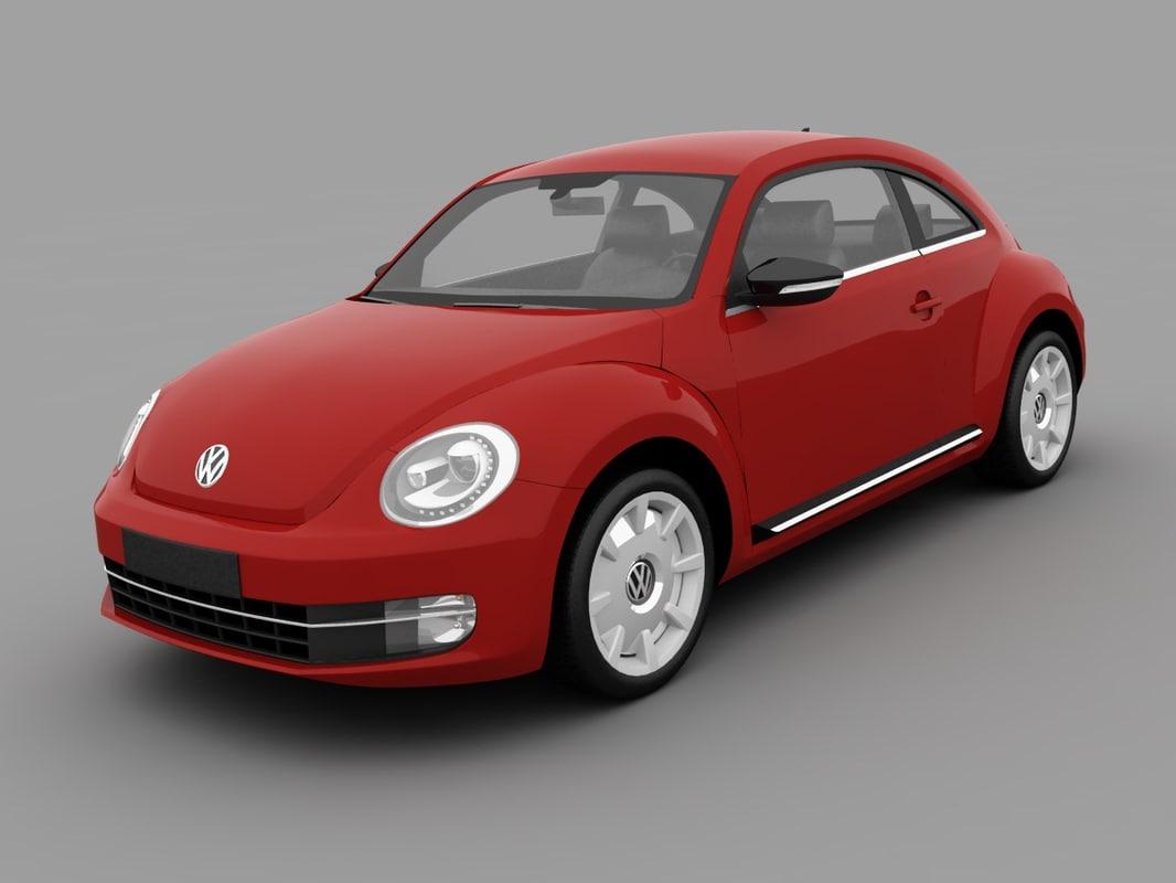 3d model of volkswagen beetle 2012