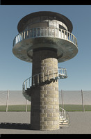 circular watchtower 3d 3ds