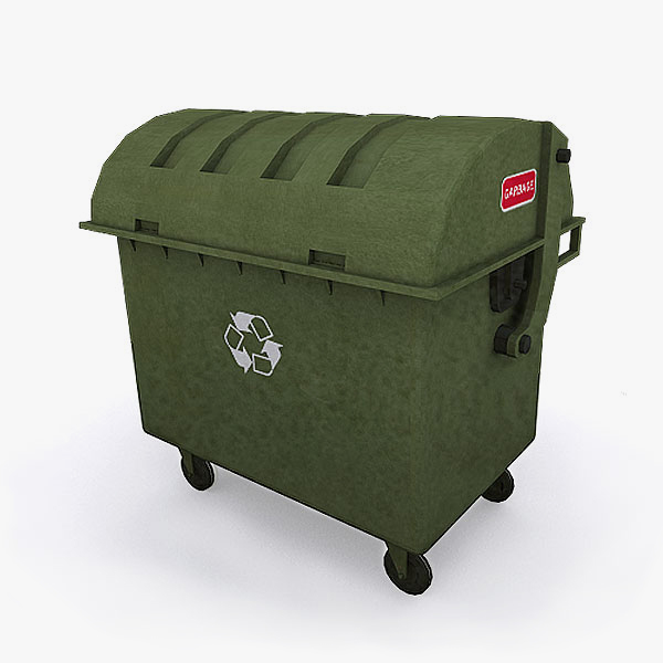 garbage bin dumpster container 3ds free