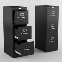 3d model file cabinet