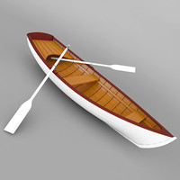 rowboat row boat 3d 3ds
