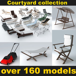 courtyard elements 3d model