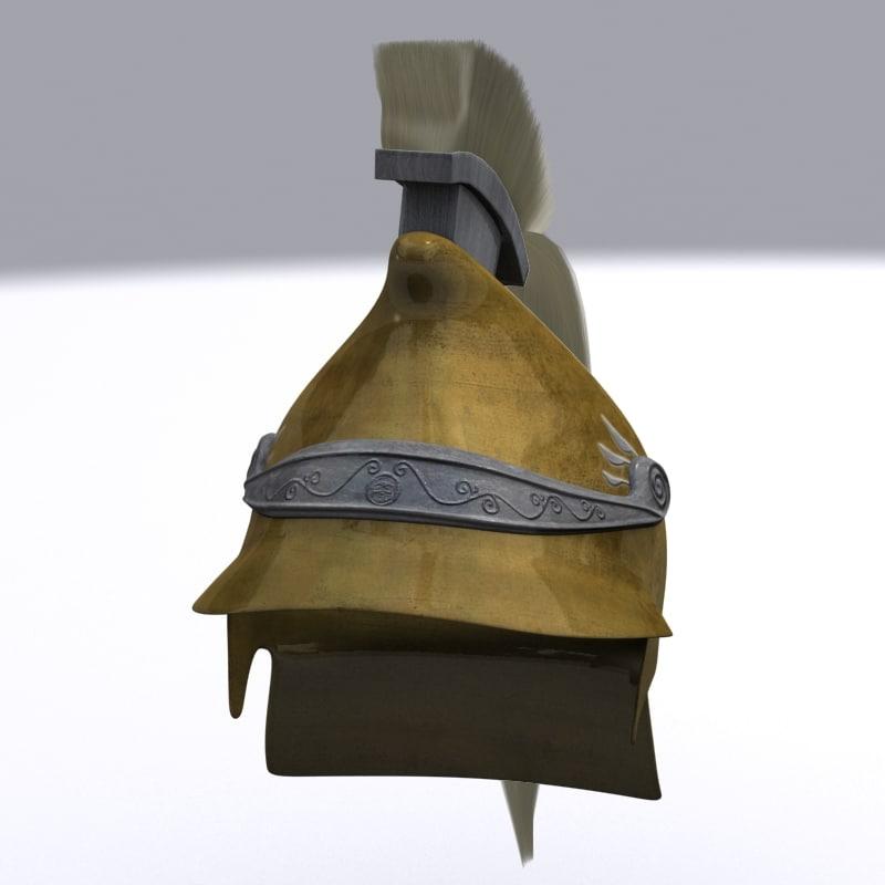 3d model greek helmet phrygian