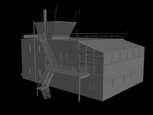 3d model control tower