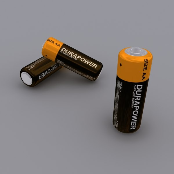 free duracell battery 3d model