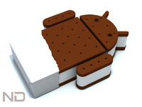 3d model android ice cream
