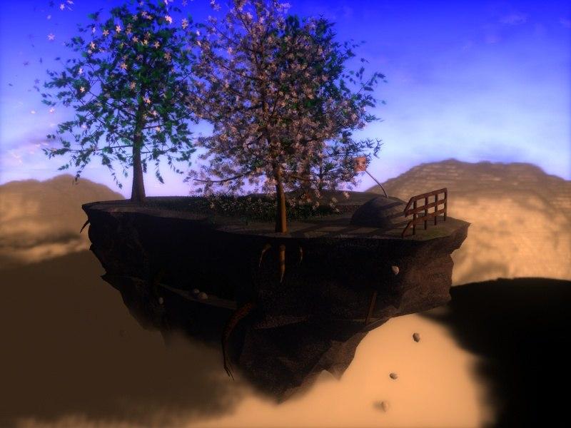 float island 3d max