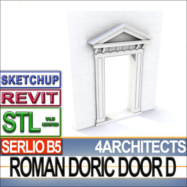 roman doric door stl 3d 3ds