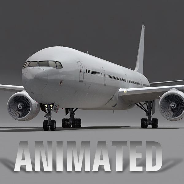 3d boeing 777-300 plane generic model