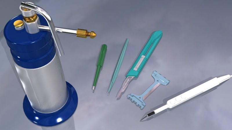 max set surgical biopsy skin