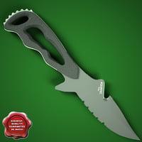 aquatec knife t-rex titanium c4d