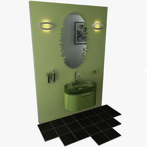 bathroom set dxf