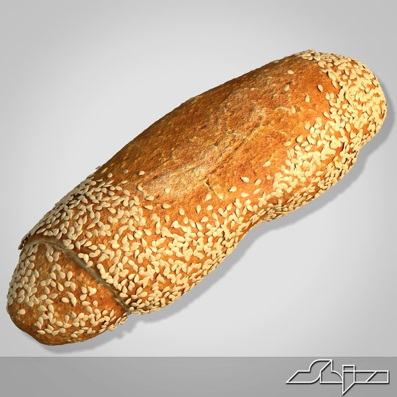 bread modeled 3d max