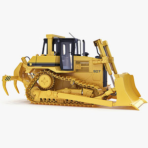 3d model of dozer bulldozer