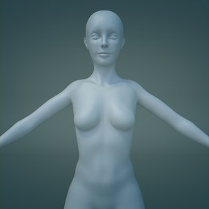 free obj mode female base mesh