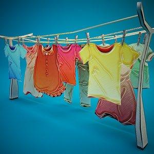 colorful clothes c4d