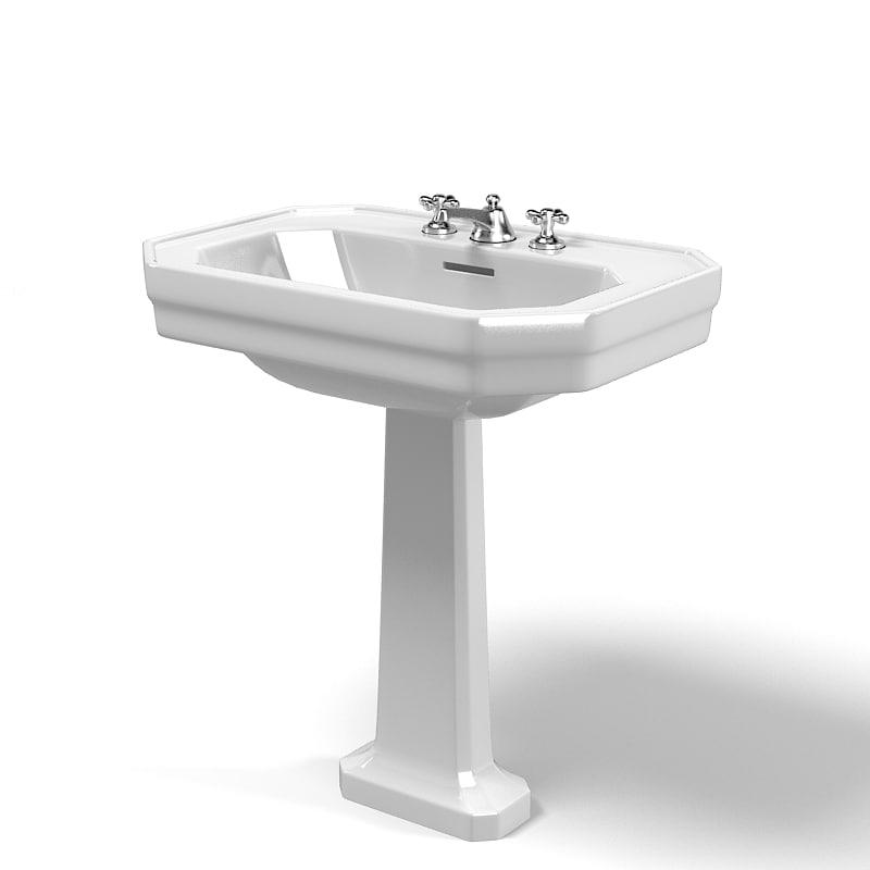 duravit modern classic traditional pedestal sink lavatory