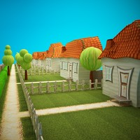 environment garden 3d model