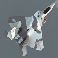 realistic f-22 raptor rigged 3d model