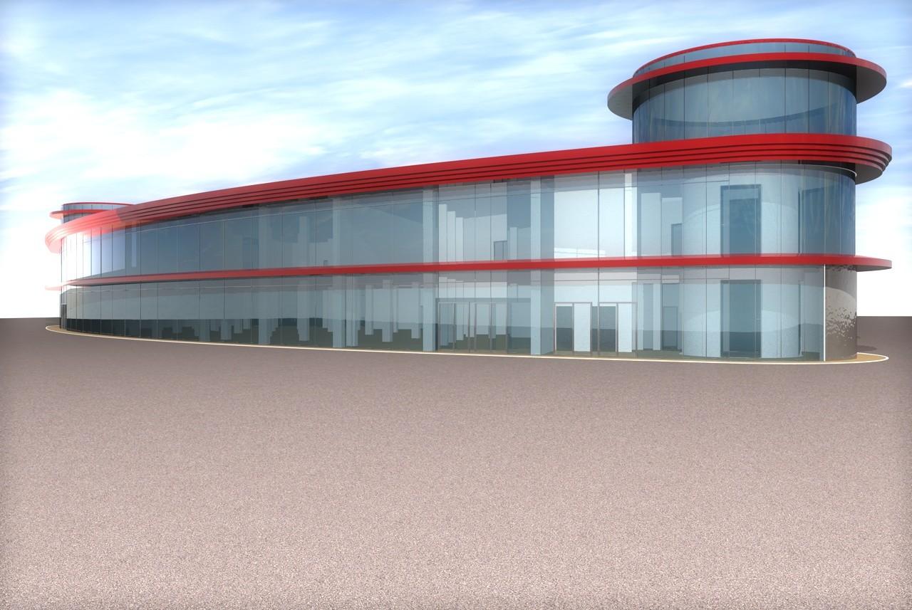 commercial building 3d c4d