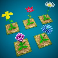 3d flowers games