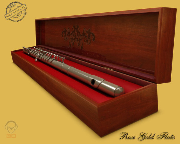 3d realistic flute