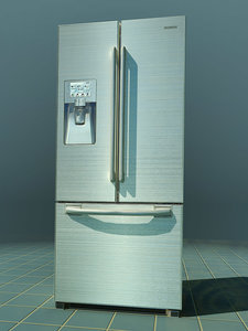 refrigerator fridge 3d max