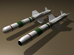 3d harpoon missiles model