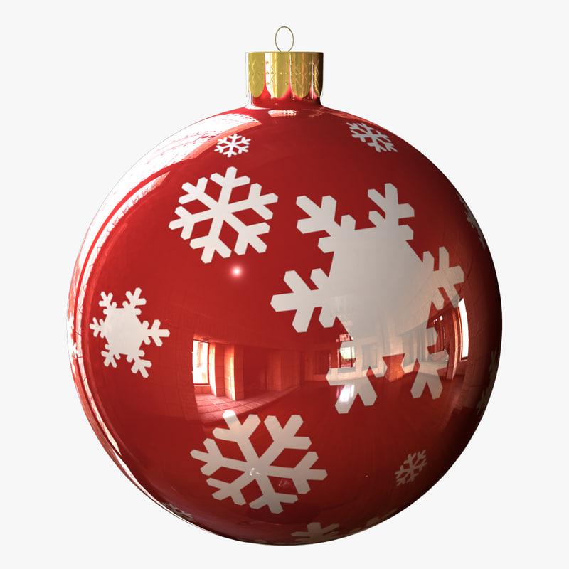 3d model festive ball 001