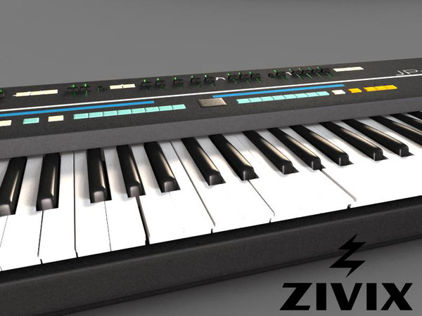 3d model of electronic synthesizer