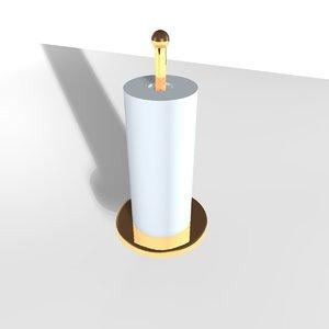 kitchen roll holder 3d model
