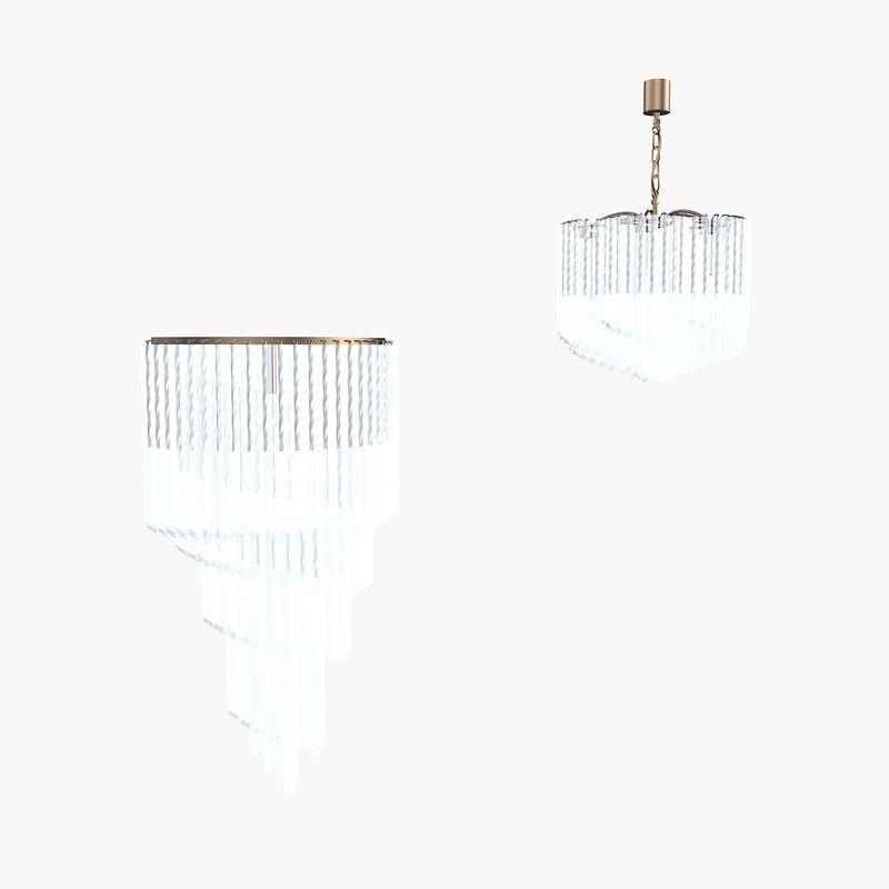 martini chandelier 3d model