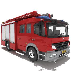 mercedes atego truck v2 3d model