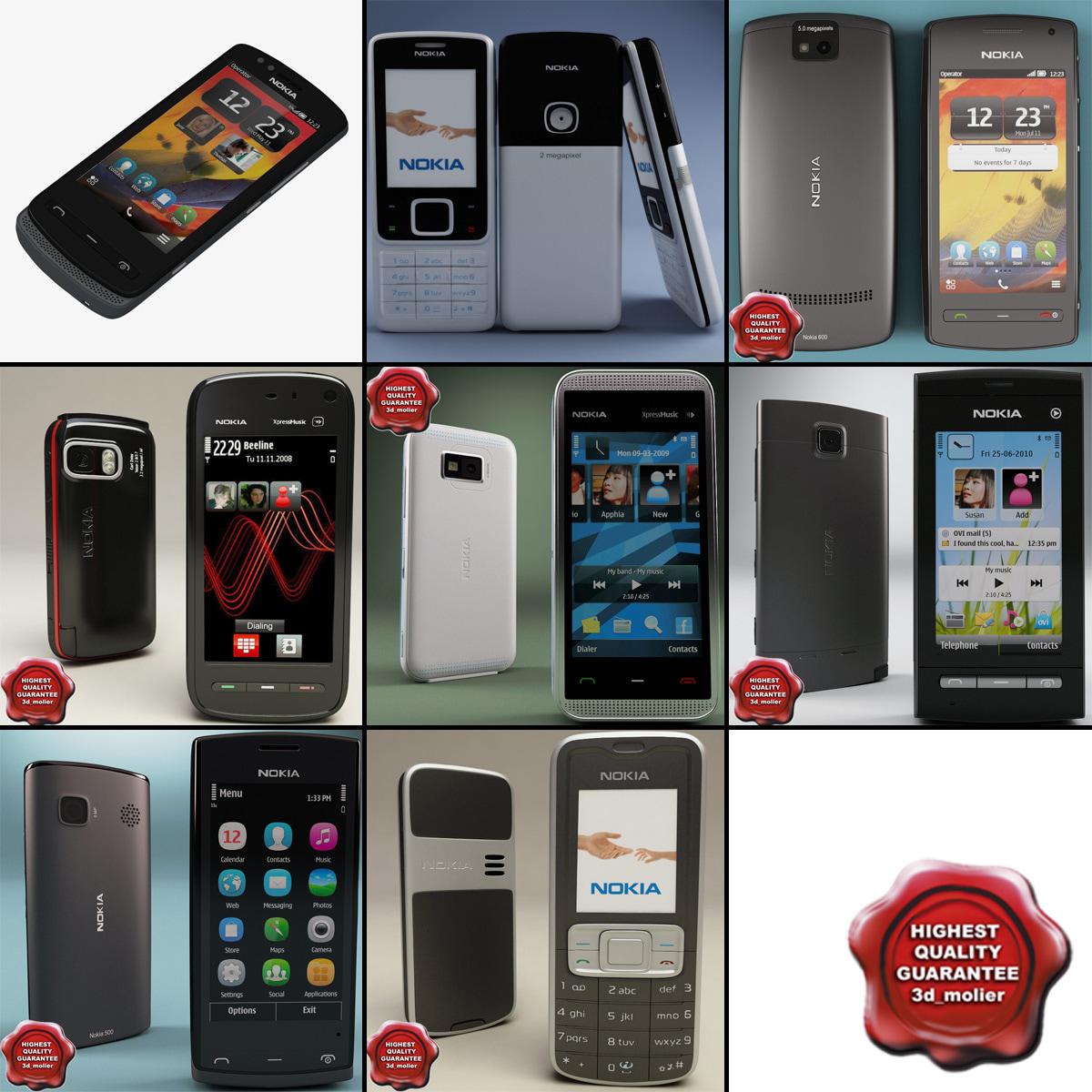 3d model nokia phones v8