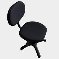 generic office chair 3d obj
