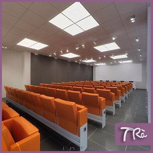 office events room interior 3d max